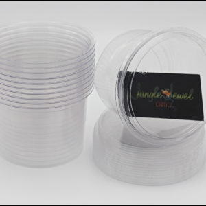16 oz Ultra Clear Compostable Deli Cups With Lids (Not Vented)