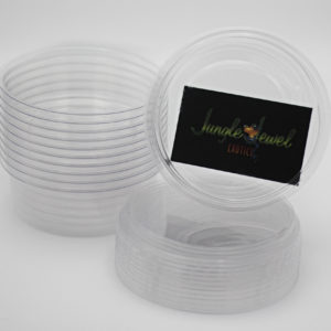 8oz Ultra Clear Compostable Deli Cups With Lids (Not Vented)